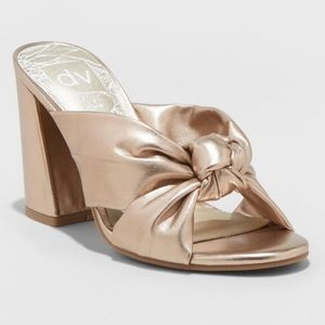 Dolce Vita | Rose Gold Knot Heel Sandals